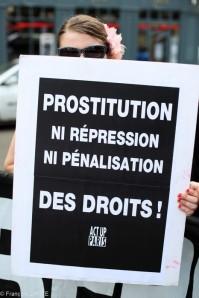 Manifestation contre la penalisation des clients de la prostitution