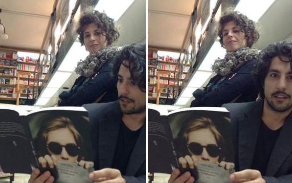 """Nella foto, con Irene Chias, in posa """"consapevole"""", Fiorenzo Lo Presti."""