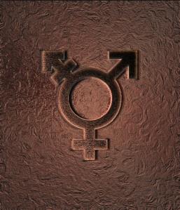 Copper transgender symbol