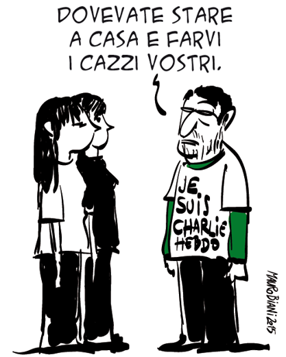 Vignetta di Mauro Biani (Via Il Manifesto)