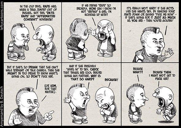 Provate a leggere i commenti sotto questa vignetta che parla di consenso.