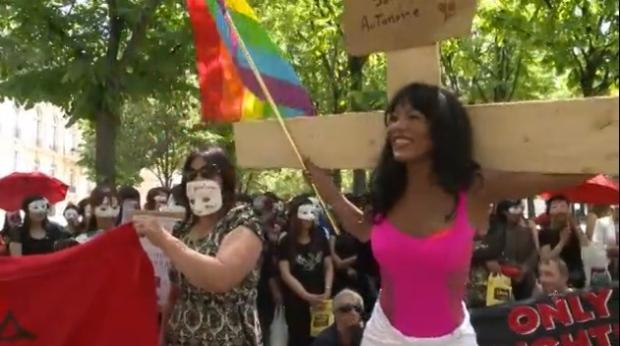 Manifestazione dei/delle sexworkers francesi