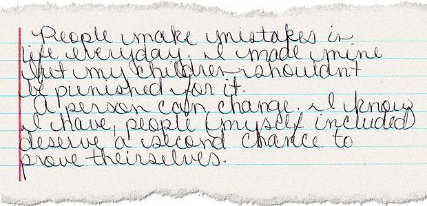 Da una lettera di Amanda Kimbrough. (Ph. courtesy of Amanda Kimbrough)