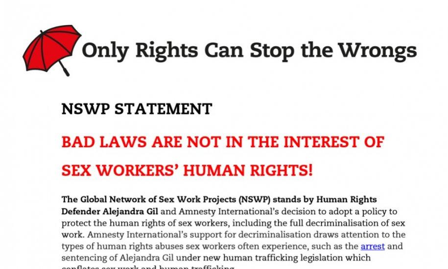 NSWP Statement Alejandra Gil