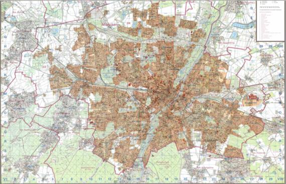 """Mappa delle """"Sperrgebiet"""" di Monaco. Fonte: http://www.muenchen.de/rathaus/Stadtverwaltung/Kreisverwaltungsreferat/Sicherheit/Prostitution.html"""
