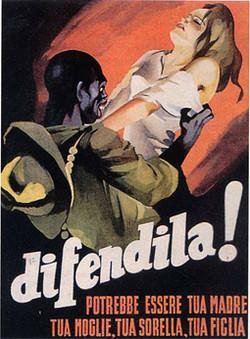 Manifesto di propaganda fascista della Repubblica sociale italiana. Da allora non ci siamo mossi di una virgola.