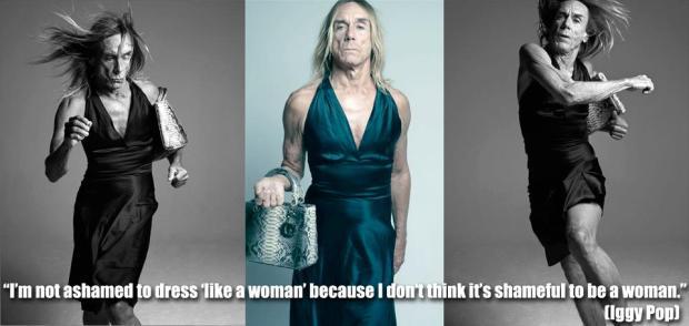 """""""Io non mi vergogno di vestirmi come una donna perché non è vergognoso essere donna"""""""
