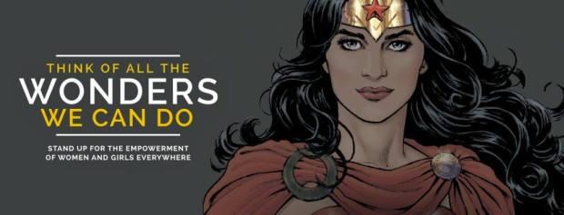 Immagine Onu per Wonder Woman ambasciatrice per uguaglianza di genere e autoaffermazione delle donne
